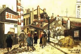 utrillo painting, La Maison Bernot