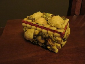 Childhood seashell jewelry box
