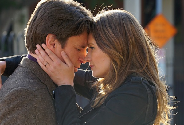 """CASTLE - """"Crossfire"""" - With their best lead in hand, Castle and Beckett are ready to take on LokSat. But an unforeseen twist puts their case - and their lives - in jeopardy, on the season finale of """"Castle,"""" MONDAY, MAY 16 (10:00-11:00 p.m. EDT) on the ABC Television Network. """"Crossfire"""" (ABC/Byron Cohen)NATHAN FILLION, STANA KATIC"""